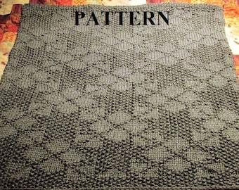 Knit And Purl Stitch Baby Blanket : Knit Baby Blanket Pattern, Knitting Pattern, Chunky Yarn, Knit Purl Stitch On...