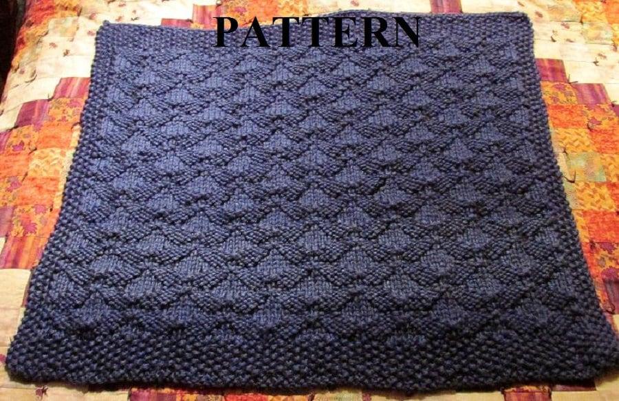 Knit Baby Blanket Pattern Knitting Pattern Chunky Yarn Knit