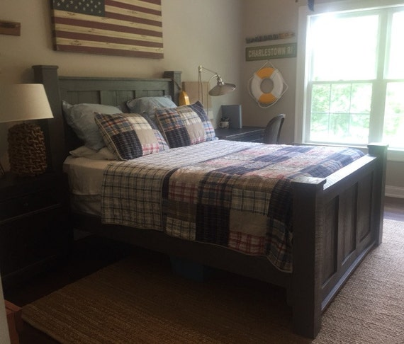 reclaimed wood bedroom set queen size bed dresser and night stands