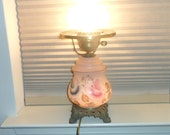 Vintage Gone With The Wind Style Hurricane Parlor 3-Way Lamp