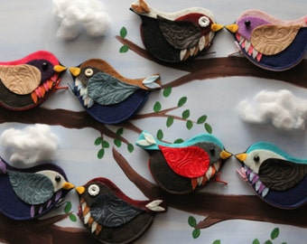 Wholesale Eco-friendly Felt Birdie Coin Purses