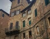 "Italy Photography, ""Two Italian Women Over the Pizzeria"", Travel Photography, Siena Photo, Customizable Print Sizes"
