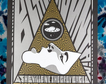 BLACK MOUNTAIN Majeure 18x24 The Grey Eagle Screen Print Show Edition of 42