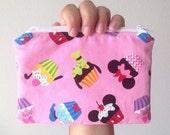 Disney Cupcakes Zipper Bag