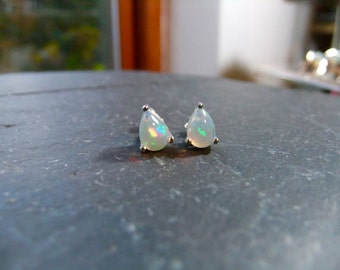 Ethiopian Opal Sterling Silver Handmade Earrings