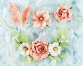 Prima Marketing Esperanza Collection ~ Trella Flower Embellishement,  Flower Set