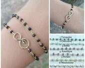 Snake, Infinity Bracelet, Snake bracelet.Infinity bracelet, gold bracelet, Yoga bracelet, rosary bracelet, Gemstone bracelet, Reiki bracelet