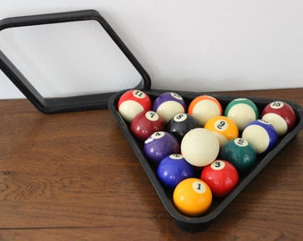 Vintage Pool Balls and Racks
