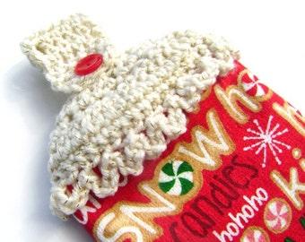 Crochet Christmas Hanging Dish Towel Kitchen Holiday Decoration Holiday Decor