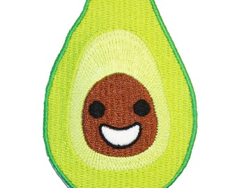 Avocado Iron On Patch Embroidery Sewing DIY Customise Denim Cotton Cute Vegan Veggies Vegetarian Guacamole