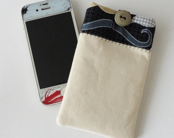 Cream Moustache Cover For iPhone