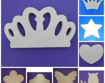 """Wood Shapes - 10"""" Size - Fairy Tale -Unpainted Wooden - Wall Hanging Decor - Kids Craft - DIY Project - Multiple Options"""