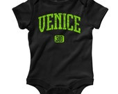 Baby Venice 310 Romper - Infant One Piece - NB 6m 12m 18m 24m - Venice Baby, Venice Beach, Surf, Skate, Cali, Area Code - 4 Colors