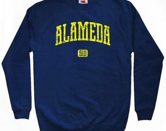 Alameda 510 Sweatshirt - Men S M L XL 2x 3x - Bay Area Cali Crewneck - 4 Colors