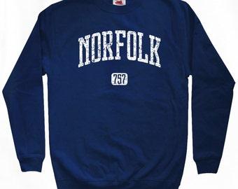 Norfolk 757 Sweatshirt - Men S M L XL 2x 3x - Virginia Crewneck - 4 Colors
