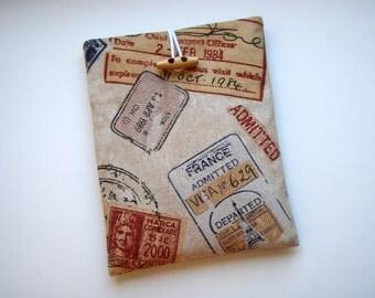 Ipad / Tablet Sleeve Visa Permit Handmade Babimini Bag Case