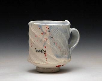 Barely Blue Handbuilt Porcelain Mug