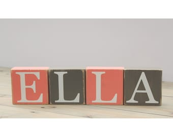 Personalized Name Blocks. Farmhouse Block Letters. Letters for Photo Prop. Baby Shower Blocks. Distressed Photo Props Baby Girl. Baby Gift.