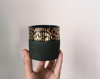 Black + Gold Dash Tumbler (Made to Order)