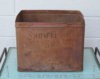 Snow Flake Sodas Pacific Coast Biscuit Company Tin