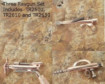 Dr. Faraldo's Steampunk Ray Gun - Miniature 3 Raygun  Set