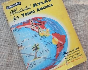 Hammond's Illustrated Atlas for Young America  1956  ~  Hammond's Atlas  ~