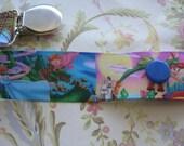 Peter Pan pacifier holder, binky holder, chupon holder, grosgrain, baby shower, cartoon pacifier holder