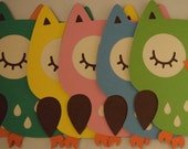 Owl die cuts/Cupcake toppers/Centerpieces