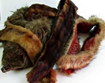 Fur Collar Wraps Lot