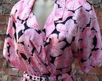 Vintage Pink & Black Dress