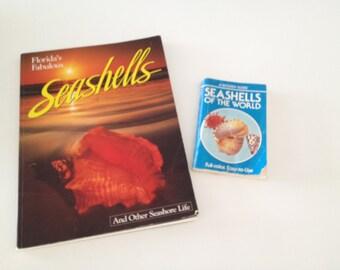 Vintage Books on Seashells Florida Fabulous Seashells and A Golden Guide Seashells of the World 80s