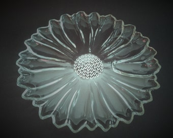 Sunflower Glass Luncheon Plates Hazel Atlas Glass Co Vintage