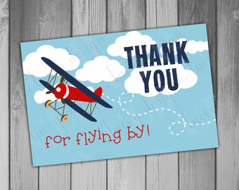 Thank You Card Airplane Birthday Printable Airplane First Birthday 1st Birthday Printable Thank Chalkboard Birthday Instant Download
