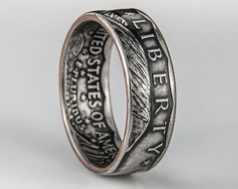 Susan B Anthony Dollar Coin Ring (heads out)
