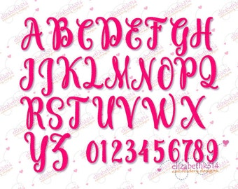 """Sizes 1,50  """",2,00 """", 2,50"""" - Instant Download - 266- Freestyle Embroidery Font  -  Machine Embroidery Font  -"""