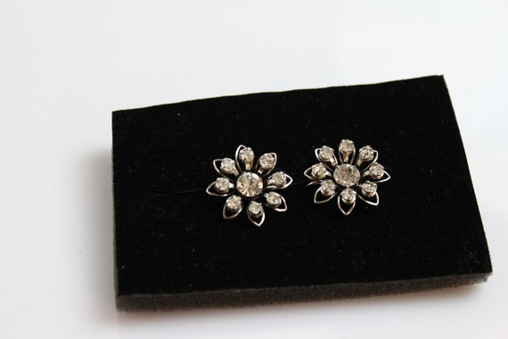 Vintage signed b n bugbee and niles earrings with clear for Bugbee and niles jewelry