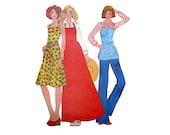 Wrap-Around Apron Dress Pattern McCalls Sample Pattern
