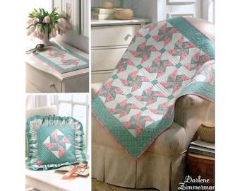 Pinwheel Quilt Pattern Simplicity 3703 Scarf Pillows