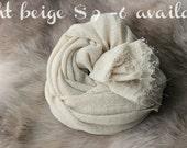 SALE newborn photography prop, light  beige stretch wrap, photo prop layering, photography prop,newborn photo wrap, baby shower gift