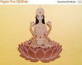 SALE Lakshmi the Indian Goddess articulated paper doll paper puppet unique and unusual hindu gift birthday present kraft paper decoration
