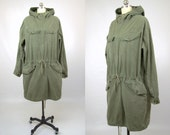 Vintage WW2 Parka Military Pullover Four Pocket Parka