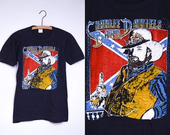80s DEADSTOCK Charlie Daniels Band Country Rock Tour T Shirt