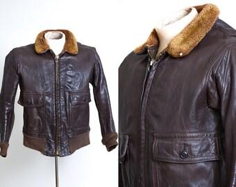 1940s leather jacket   Etsy