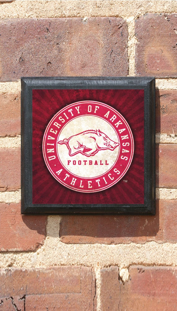 Arkansas Razorbacks Seal Wall Art Sign Plaque Gift Present Home Decorators Catalog Best Ideas of Home Decor and Design [homedecoratorscatalog.us]