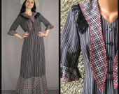 Vintage Wild West maxi dress, Halloween costume, size S-M