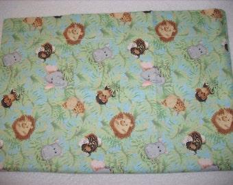 baby jungle animals travel pillowcase