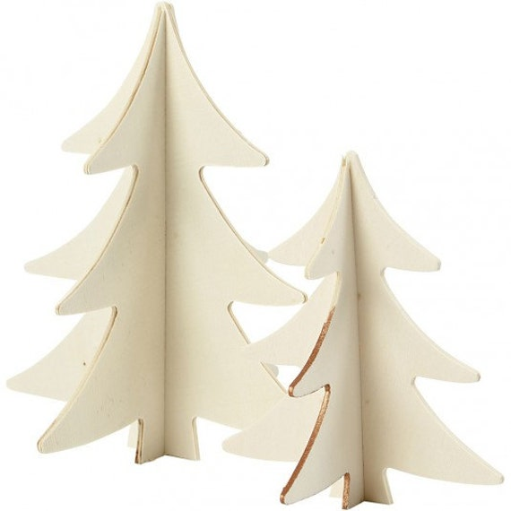 christmas tree wooden 3d decoration plain wood trees. Black Bedroom Furniture Sets. Home Design Ideas