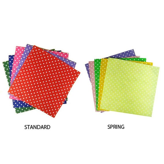 Craft felt fabric cut glue sew polka dot felt squares x 10 for Polka dot felt fabric