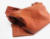 Italian Lambskin leather hide hides skin skins VINTAGE DISTRESSED TERRACOTTA 7sqf #A278