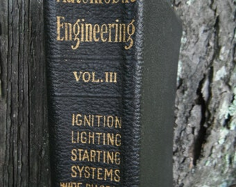 Antique Automobile Reference Book - Automobile Engineering Vol. 3